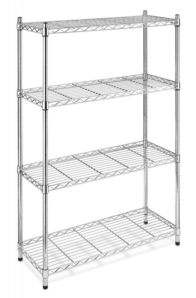 BlackChrome Storage Rack 4Tier Organizer Kitchen