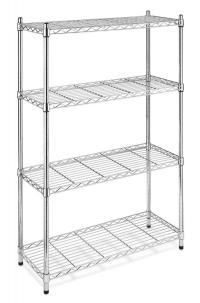 Black/Chrome Storage Rack 4-Tier Organizer Kitchen ...