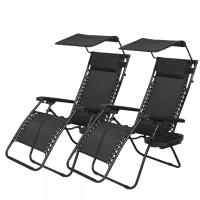 New 2 PCS Zero Gravity Chair Lounge Patio Chairs with ...