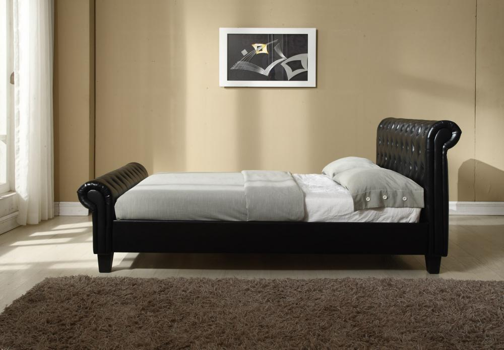 flat pack sofas uk cheap white chesterfield double sleigh bed frame black leather with ...
