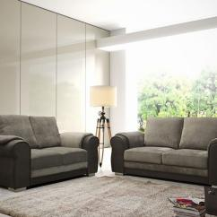 Brown Fabric Corner Sofa Dfs Ikea Embly Instructions Chris Grey Set Suite 3+2+1 Stool 3 ...