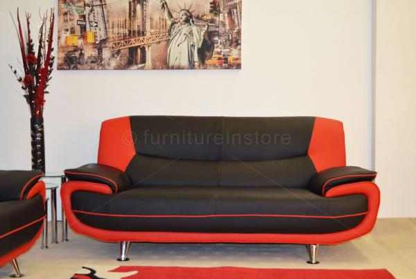 black and red leather sofa restoration hardware lancaster sleeper 2 seater couch settee faux modern brown grey piece suite passero