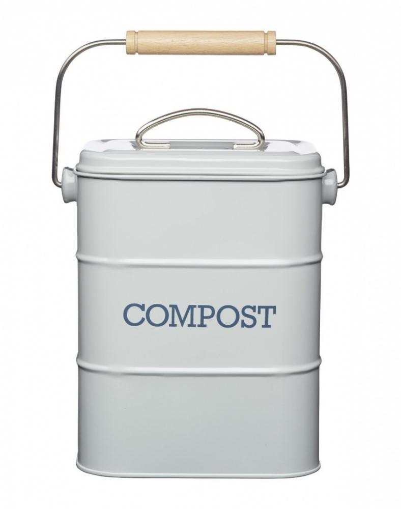 Retro Vintage Enamel Compost Composting Teabag Vegetables