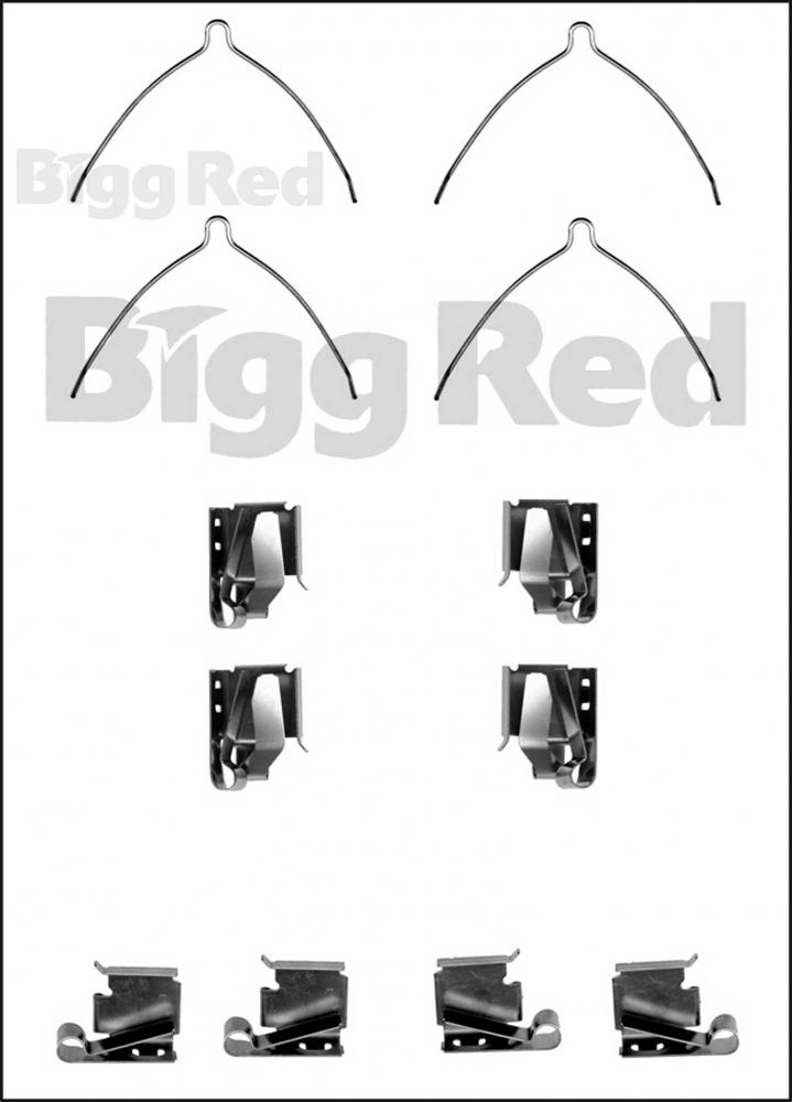 Front Brake Caliper Pad Fitting Kit for Toyota Camry
