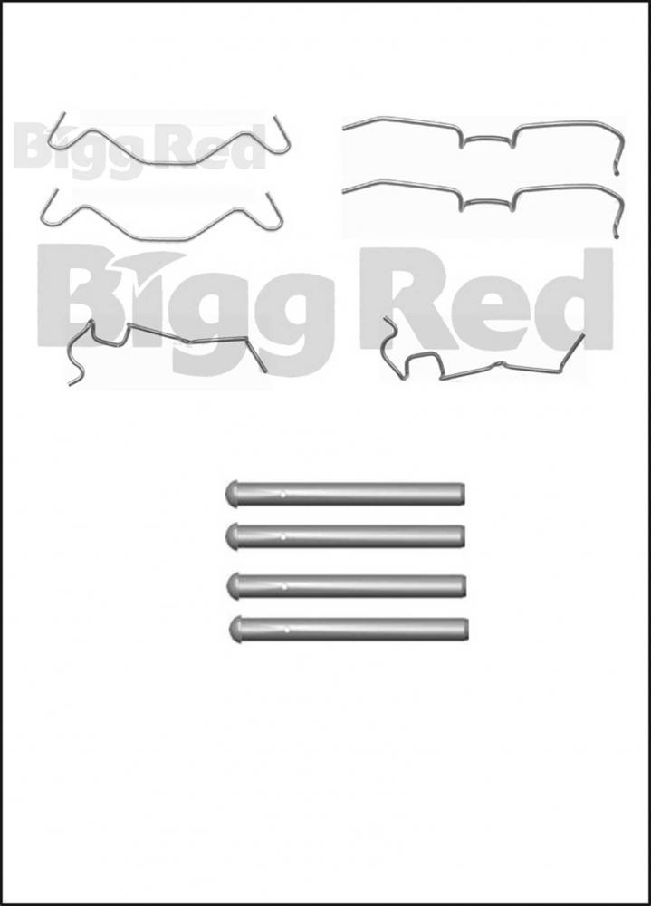 Front Brake Caliper Pad Fitting Kit for Daihatsu Cuore