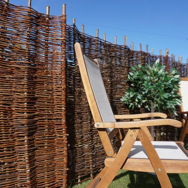 Wooden Willow Hurdle Decorative Woven Garden Fence Panel