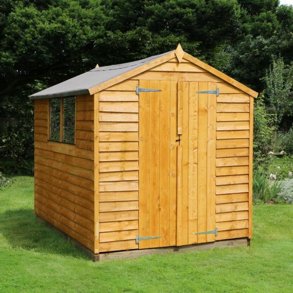 8x6 wooden overlap garden storage