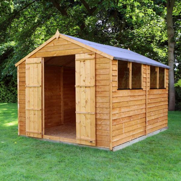 10x8 overlap wooden shed window