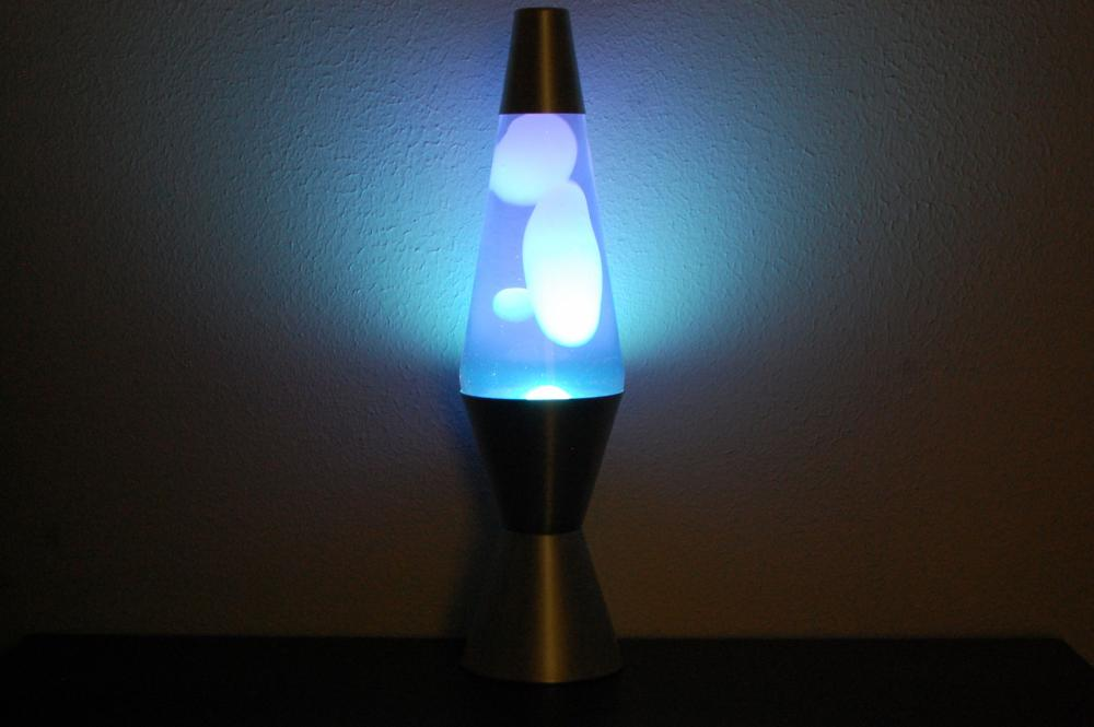 20oz Lava Brand Motion Lamp Blue Liquid w/WHITE Lava