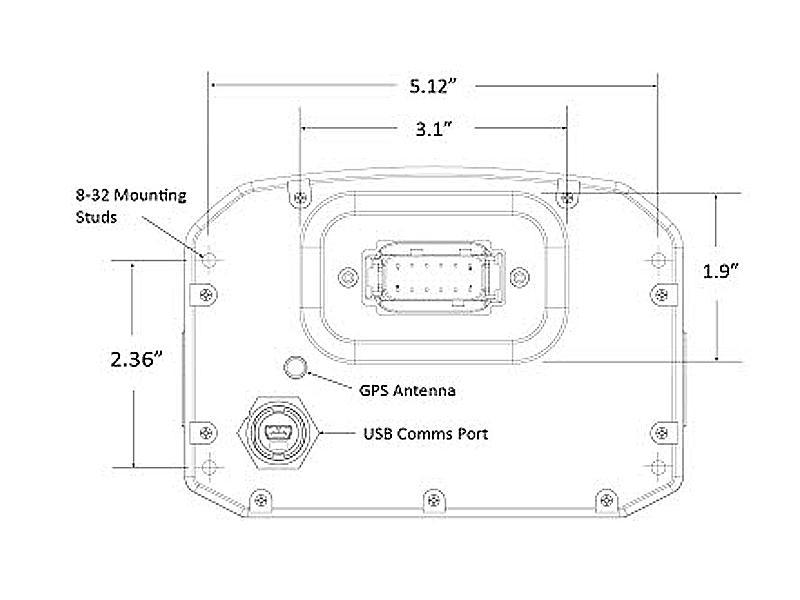 AEM CD-5G Carbon Digital Dash Display w/ Interal 10Hz GPS