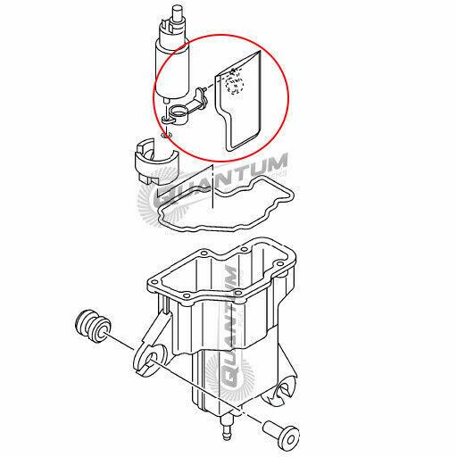 YAMAHA Replacement Fuel Pump + Filter #6BG-13910-01-00
