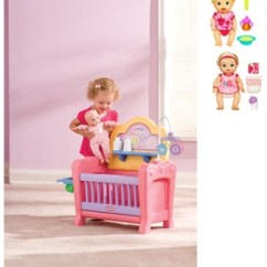 Little Tikes Doll High Chair Red Office Without Wheels Baby Alive Nursery Play Set $50 Shipped