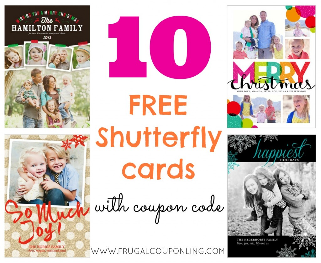 RARE 10 FREE Shutterfly Cards Ends 1126 Christmas Cards