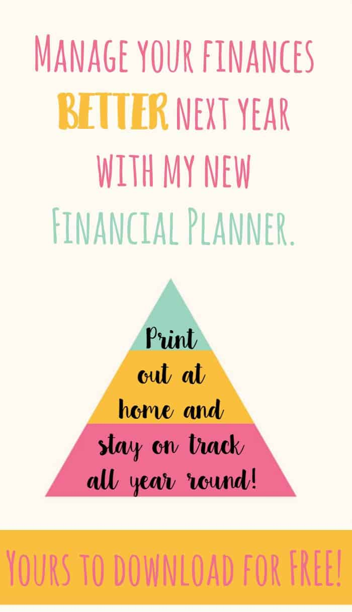 Amazing completely free financial planner to help you manage your budget and family finances better this year. This is a great free resource for those who would like to have something to track their finances throughout the year. #finance #family #freeplanner