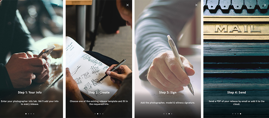 Releases' Mobile App by Snapwire: Create a Free Model Release Form ...