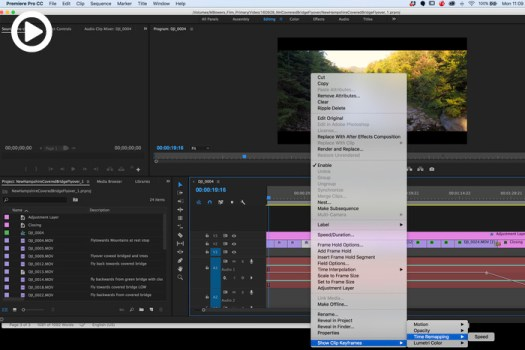 Five Essential Time and Speed Effects in Adobe Premiere Pro CC