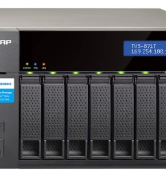 qnap s tvs 871t solves all of your home and on the go data storage needs [ 1185 x 670 Pixel ]