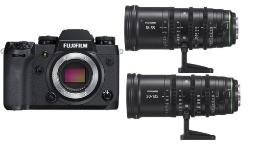 Fuji Announces the X-H1 Camera and MKX 18-55mm T2.9 and MKX 50-135mm T2.9 Cinema Lenses