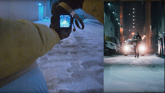 First-Person Street Photography in a Blizzard