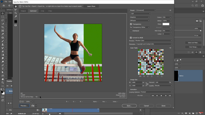 How To Create Before and After Animated GIFs for Your Images in Photoshop