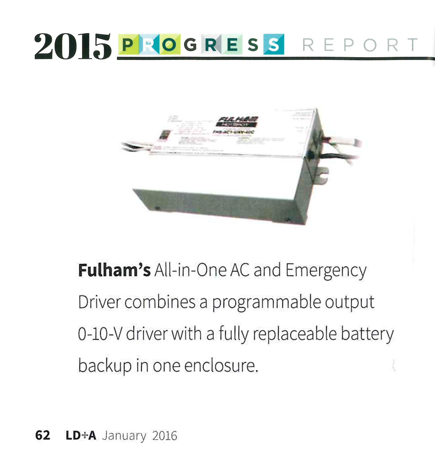 hight resolution of jan 2016 ld a magazine 2015 ies progress report fulham all in one led driver emergency system