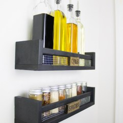 Metal Kitchen Shelves Ikea Granite Tables 11 Diy Spice Rack Ideas For A Whimiscal - Full ...