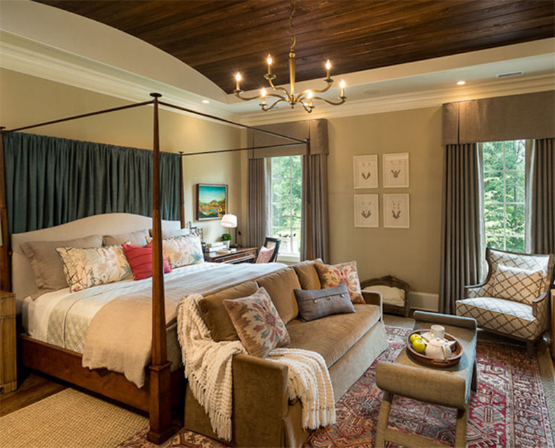 lovely bedroom interiors with sofas and couches - full home living