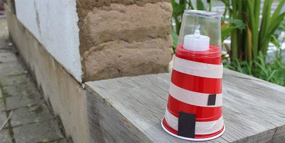 Creative Family Fun Craft Making Luminous Lighthouses