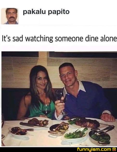 Eating Alone Funny : eating, alone, funny, Dining, Alone, Funny, Funnyism, Pictures