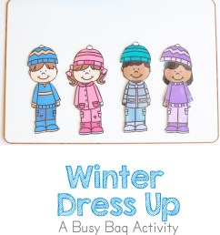 Printable Winter Paper Dolls Dress Up Busy Bag - Fun with Mama [ 1400 x 800 Pixel ]