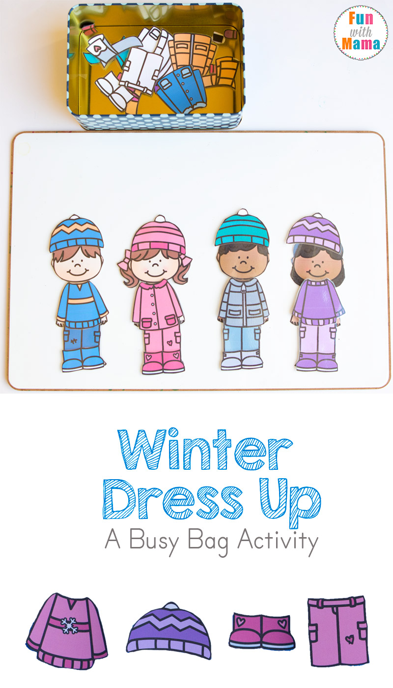 hight resolution of Printable Winter Paper Dolls Dress Up Busy Bag - Fun with Mama