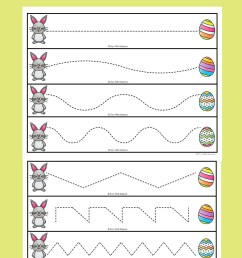 Easter Tracing Worksheets for Preschoolers - Fun with Mama [ 1400 x 800 Pixel ]