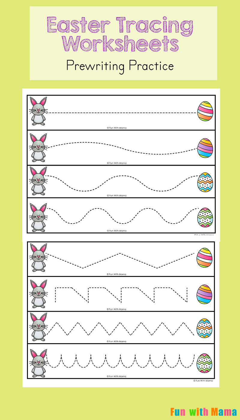 medium resolution of Easter Tracing Worksheets for Preschoolers - Fun with Mama