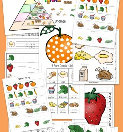 Food Groups Preschool Activity Pack - Fun with Mama [ 1400 x 800 Pixel ]