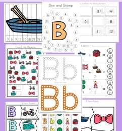 Letter B Preschool Printable Pack - Fun with Mama [ 1400 x 800 Pixel ]