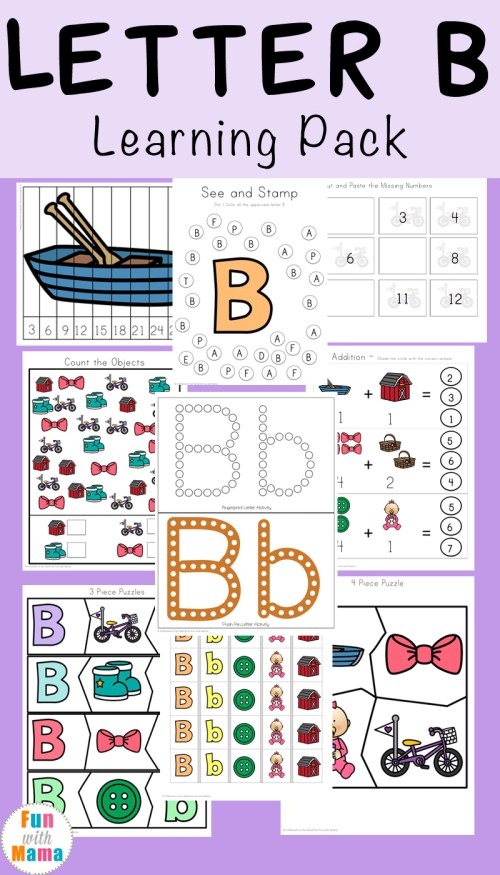 small resolution of Letter B Preschool Printable Pack - Fun with Mama