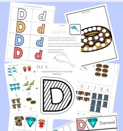 Letter D Worksheets + Activities - Fun with Mama [ 1400 x 800 Pixel ]