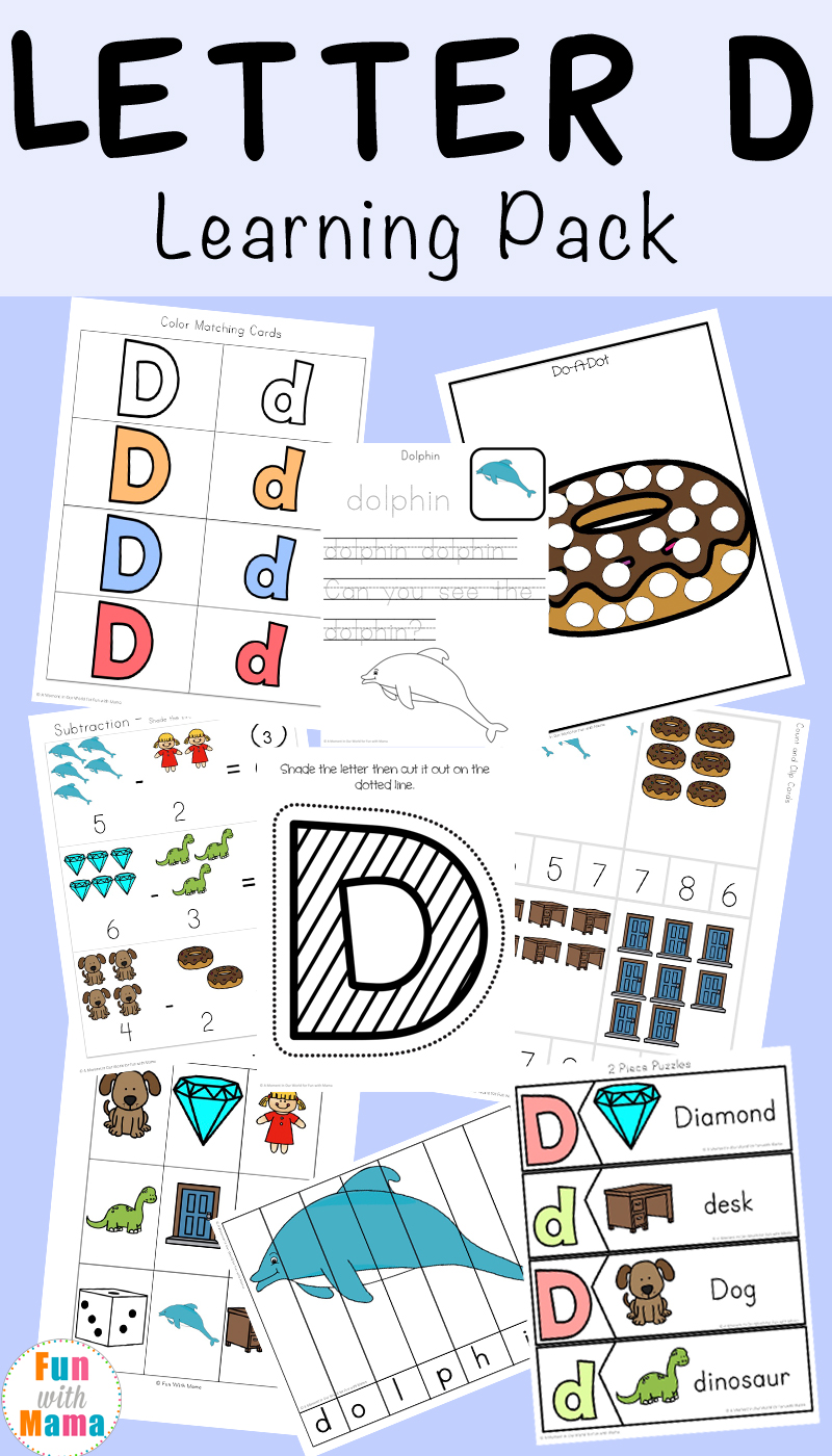 medium resolution of Letter D Worksheets + Activities - Fun with Mama