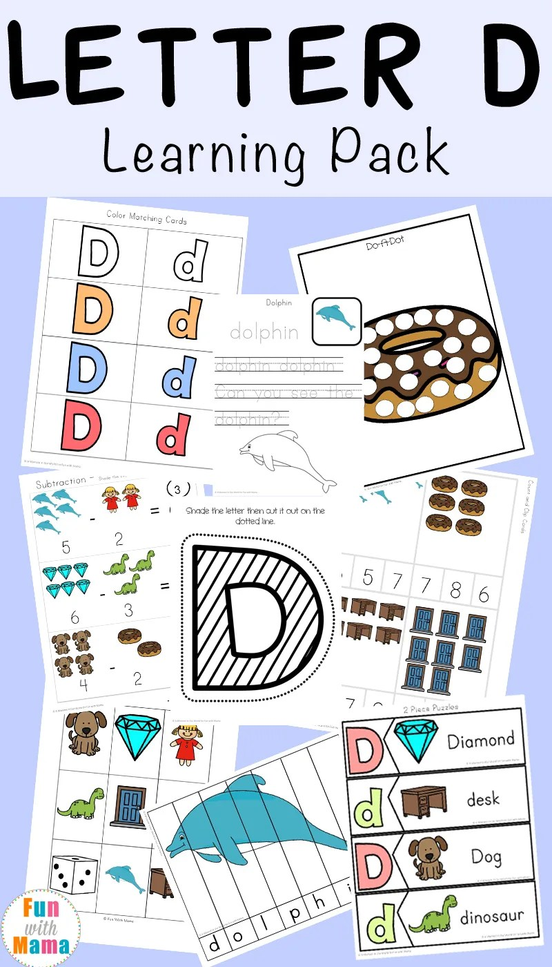 hight resolution of Letter D Worksheets + Activities - Fun with Mama