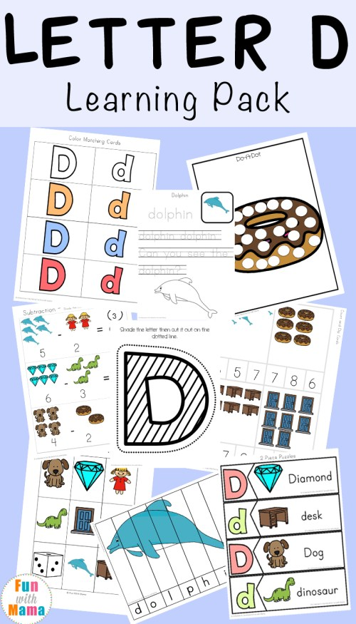 small resolution of Letter D Worksheets + Activities - Fun with Mama
