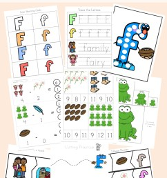 Free Letter F Worksheets - Fun with Mama [ 1400 x 800 Pixel ]