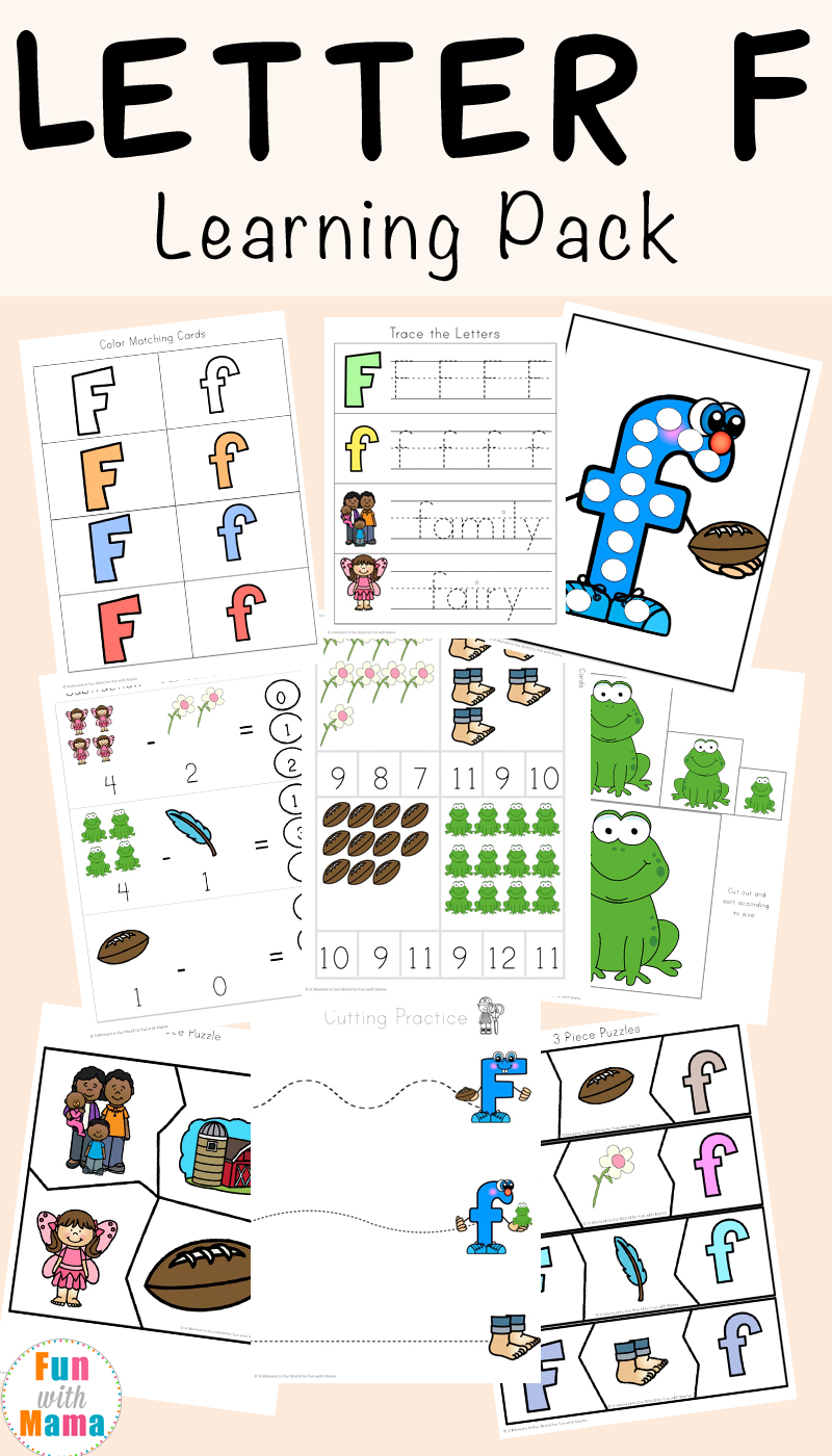hight resolution of Free Letter F Worksheets - Fun with Mama