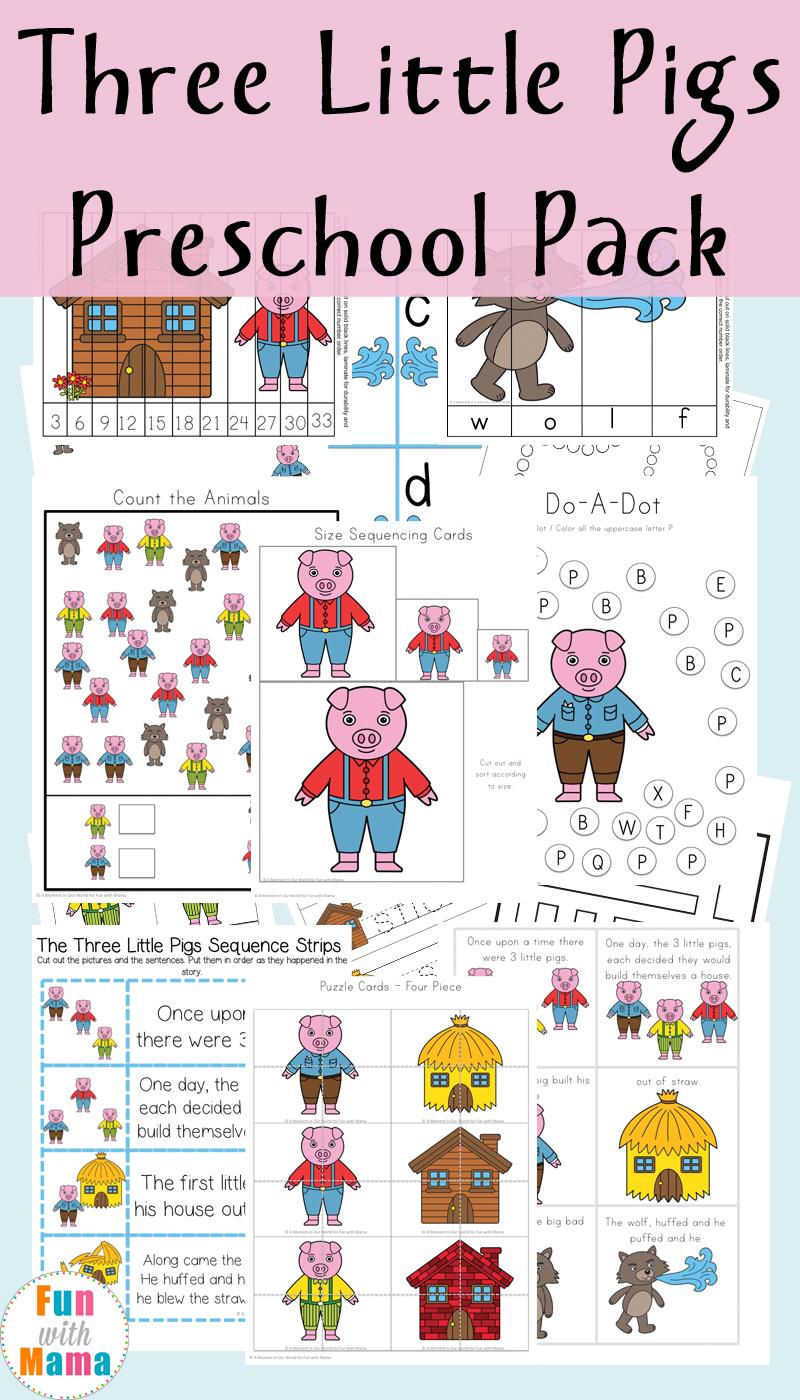 medium resolution of Three Little Pigs Activities - Fun with Mama