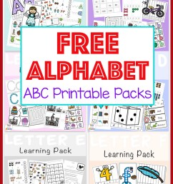 Free Alphabet ABC Printable Packs - Fun with Mama [ 1161 x 800 Pixel ]