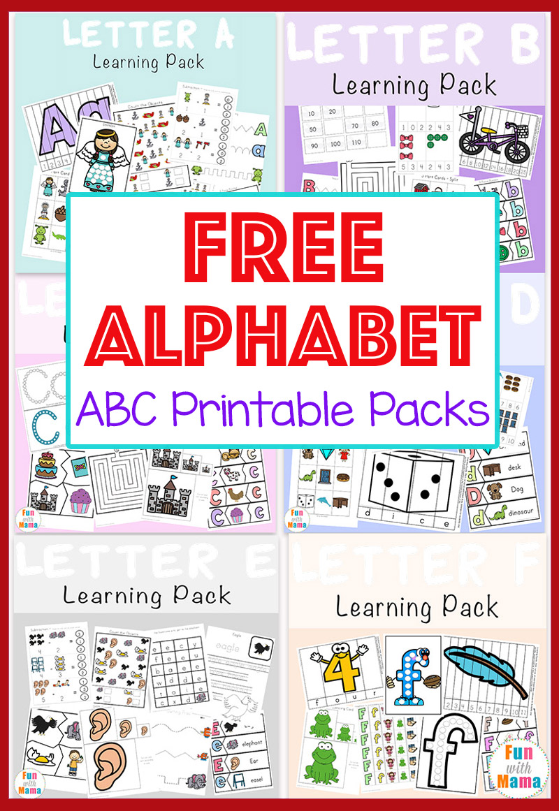 medium resolution of Free Alphabet ABC Printable Packs - Fun with Mama