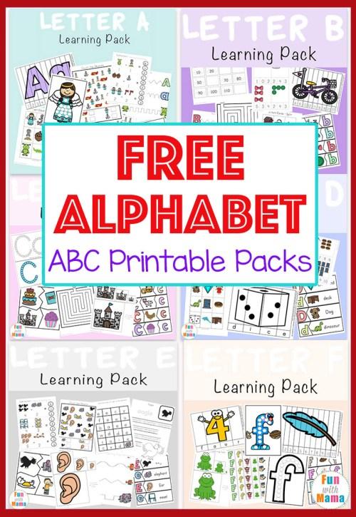 small resolution of Free Alphabet ABC Printable Packs - Fun with Mama