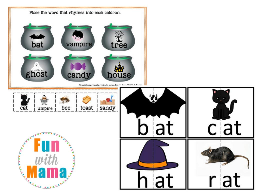 Halloween Puzzles Preschool Activity Pack
