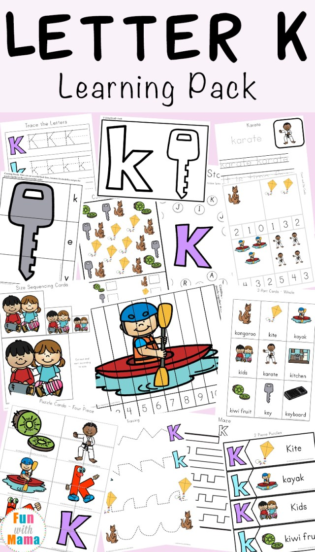 Letter K Worksheets Fun With Mama