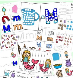 Letter M Worksheets - Fun with Mama [ 1400 x 800 Pixel ]