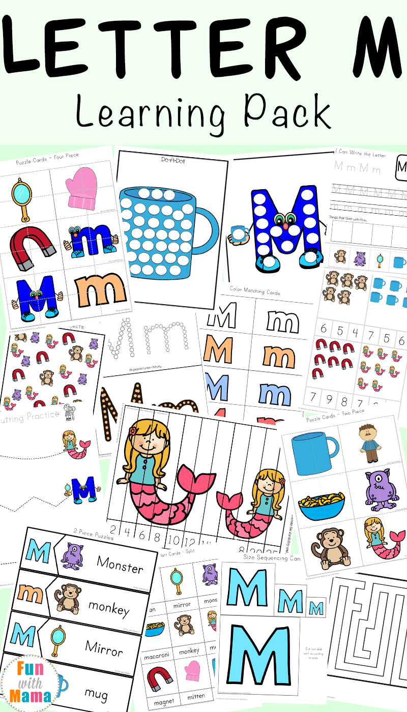 medium resolution of Letter M Worksheets - Fun with Mama